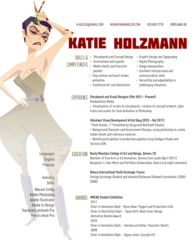 resume draw holzie